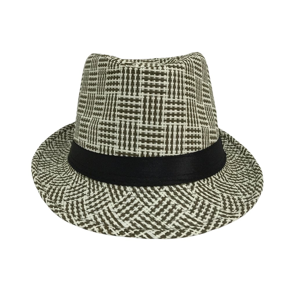 COMVIP Adult Child Gangster Cap Fedora Panama Beach Sun pp Straw Hat