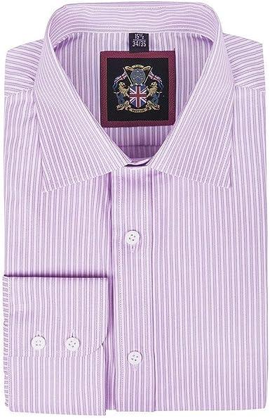 Janeo Mens Shirts - Camisa formal - Rayas - Manga Larga ...