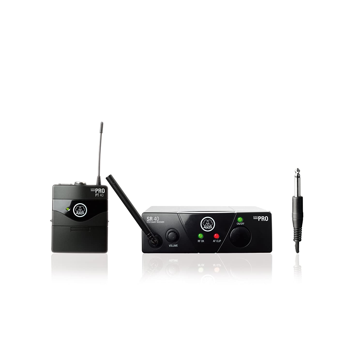 AKG Pro Audio WMS40 Mini Instrumental Set BD US45A Wireless Instrument Microphone 3348H00060