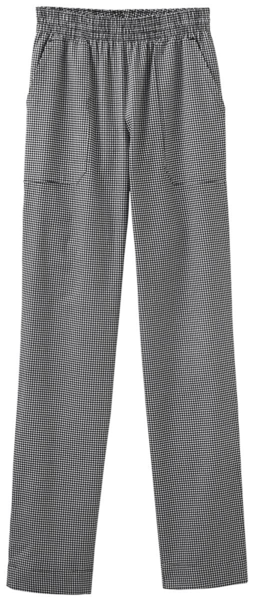 Houndstooth 5X-Large Five Star White Swan Chef Apparel Ladies Pull On Drawstring-Elastic Pant (Assorted)