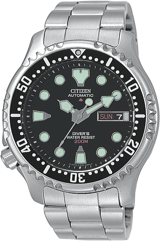 Citizen NY0040-50E - Reloj analógico automático para Hombre, Correa de Acero Inoxidable Multicolor