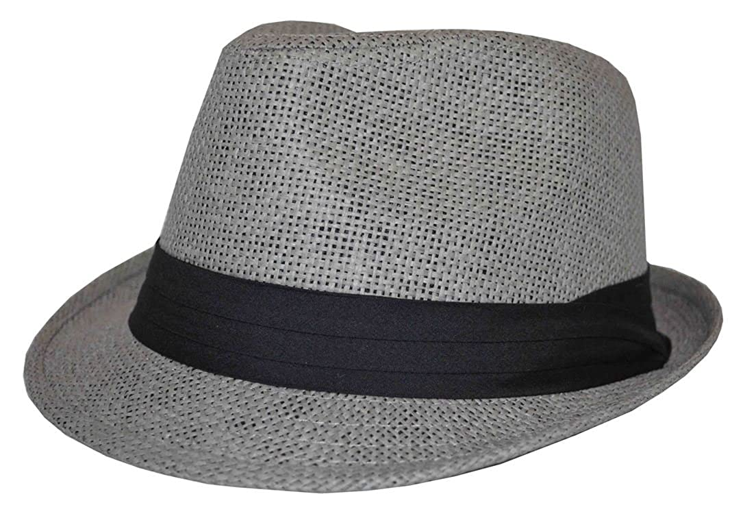 MLN Men s Straw Fedora Gray With Black Band 62cm 2xl at Amazon Men s  Clothing store  7fc8cade395