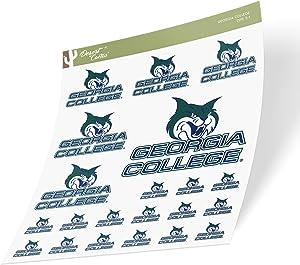 Georgia College GCSU Bobcats Sticker Vinyl Decal Laptop Water Bottle Car Scrapbook (Sheet Type 3)