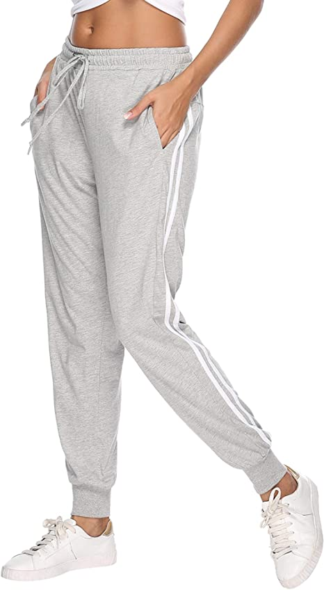 Aibrou 100% Algodón Pantalones Deportivos para Mujer ...