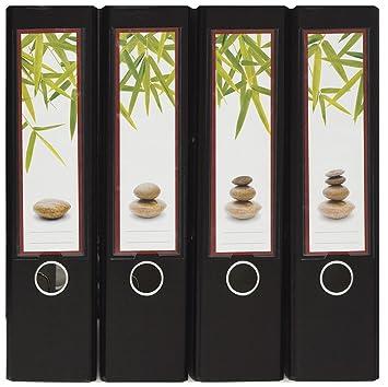 Diseño Carpeta de espalda etiquetas para insertar - Diseño Feng Shui - para ancho DIN A4 - Archivador, Original de File Art y a m tienda de W: Amazon.es: ...