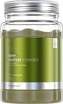 WeightWorld Proteína Vegana de Cáñamo en Polvo Natural | Suplemento Deportivo Recuperador Muscular | Con Omega 3 y 9 Aminoacidos Esenciales | Para ...
