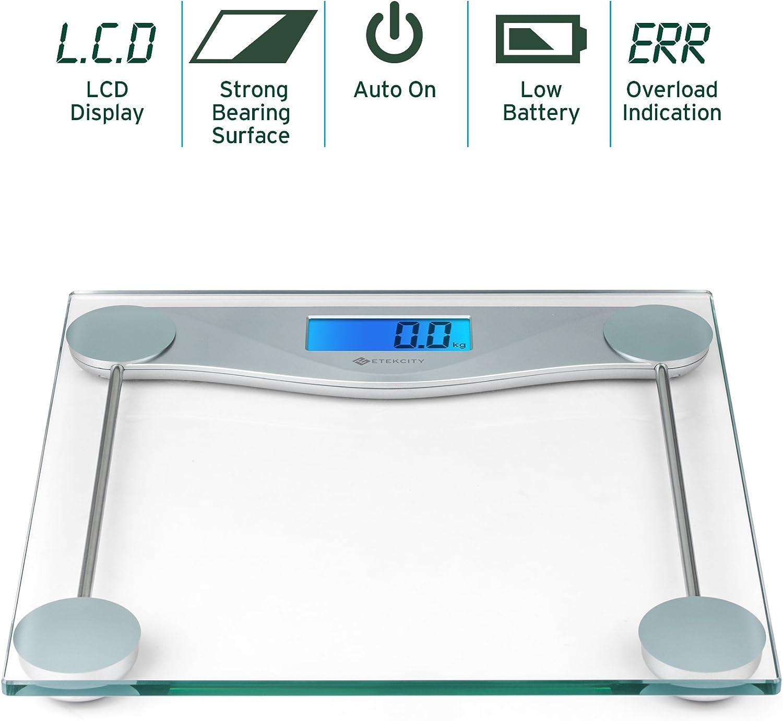 Etekcity Báscula de Baño Digital de Alta Medición Precisa 180kg ...