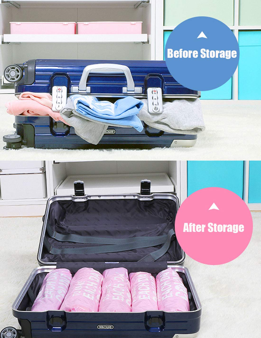 Newlight66 Vacuum Storage Bags, Clothing Storage Bags Compression Bag/Travel / Business Trip for Household Use Dustproof Reusable Vacuum Sealer Bags