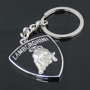3d Car Key Chain Silver Lamborghini Car Logo Key Chains Gift Crafts