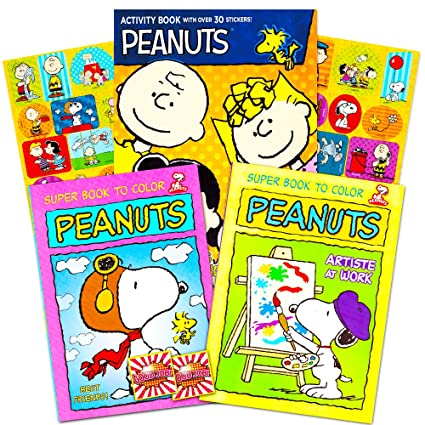 fca9f546361820 Amazon.com  Peanuts Gang Coloring Book Set -- 3 Coloring Books Featuring  Snoopy