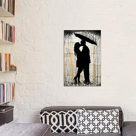 Amazon.com: iCanvasART Rain Lovers Canvas Print by Loui ...