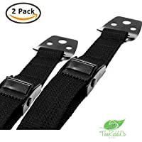 BIG SALE Safety Metal Furniture / TV Straps - Earthquake Proof Anti-Tip Anchors for Flat TV, Extra Strong Hold Child proofing