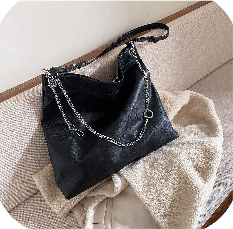 High Capacity Pu Leather Crossbody Bags For Women Chain Shoulder Messenger Bag Winter Travel Handbags