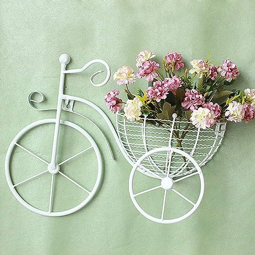 zenggp Adornos De Pared Colgante Bicicleta Cesta Jardin Decoración ...