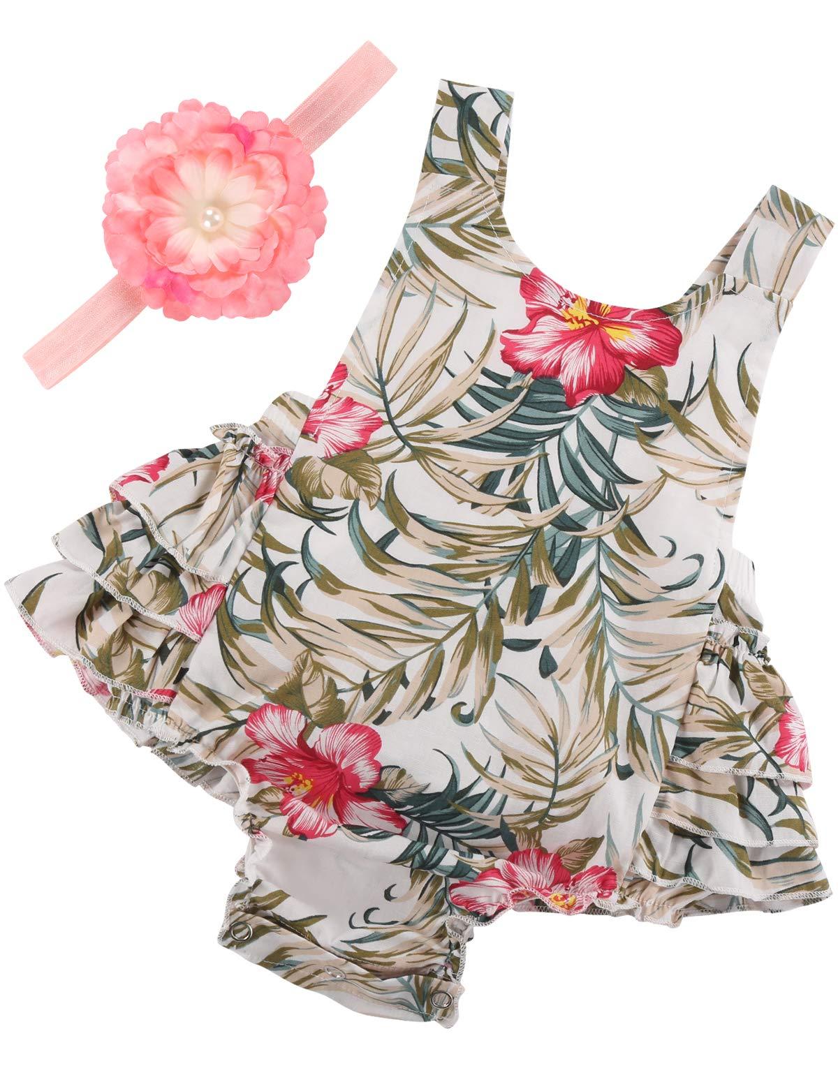 PrinceSasa Baby Girl Clothes Floral Ruffles Summer