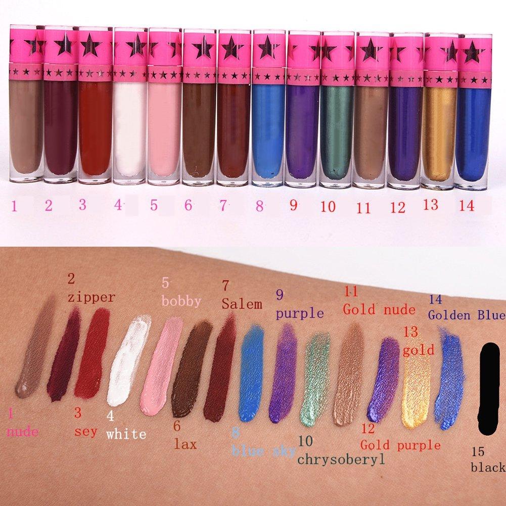 Spdoo Waterproof Liquid Lipstick Long Lasting Velvet Lip Gloss Matte Set 15 Colors