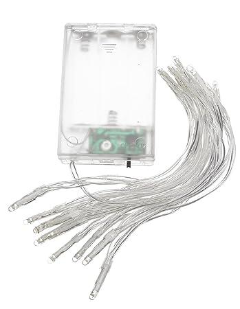 Vbs Mini Led Lichterkette 20er Leds Mit Timer Batteriefach Warmweiss
