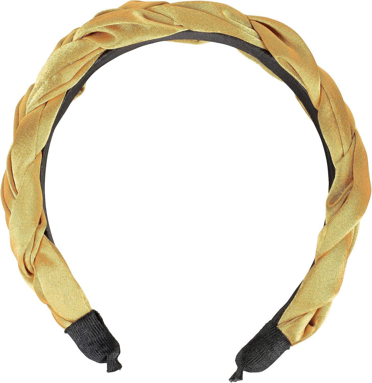 Head Band 04026045 Cinta para la Cabeza de Estilo Retro styleBREAKER Diadema de Mujer en /óptica Trenzada