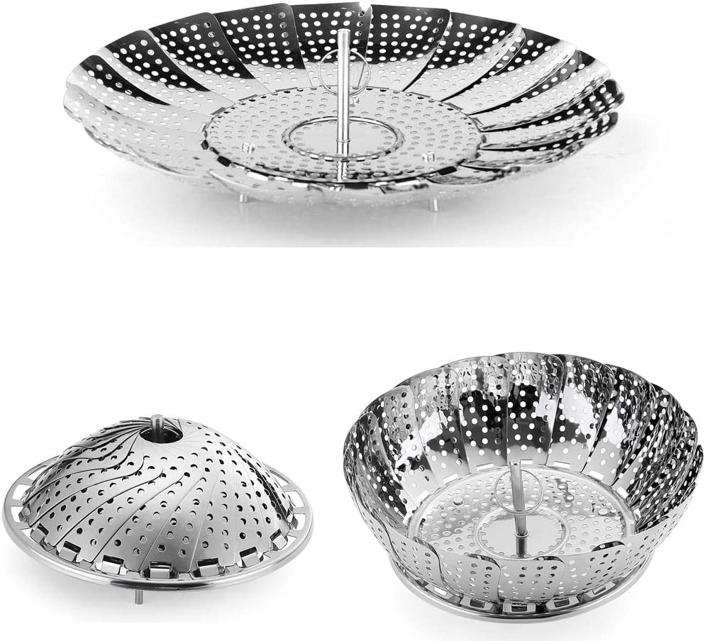 Stainless Steel Vegetable Steamer Folding Steamer Basket/Insert for Pans & Pressure Cookers