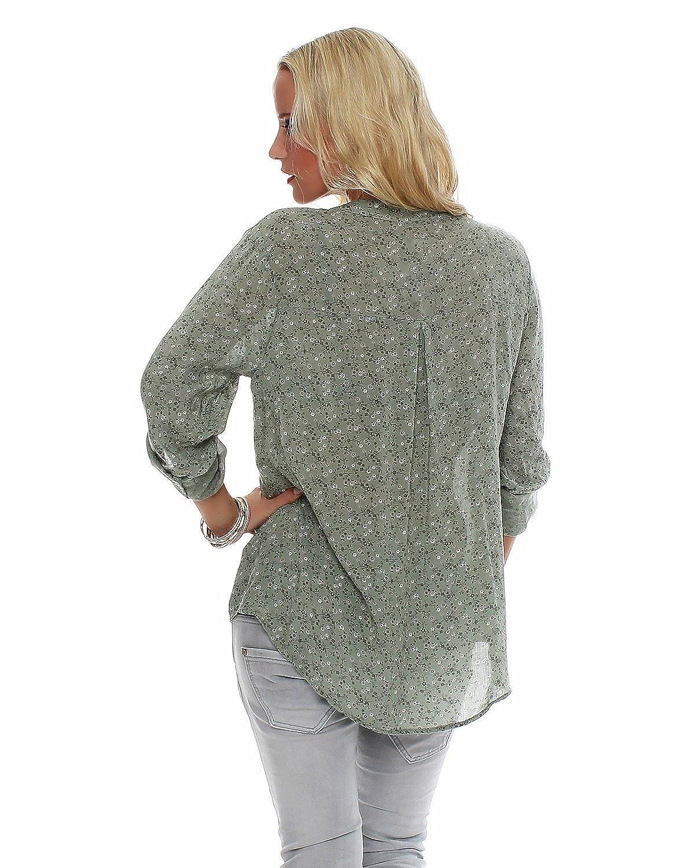 ZARMEXX feine Viskosebluse Hemdbluse Langarm- Fischerhemd regular ...