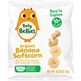 Baby Bellies Organic Softcorn Baby Snack, Banana, Pack of 7 Individual Snack Packs, 0.28 Ounce