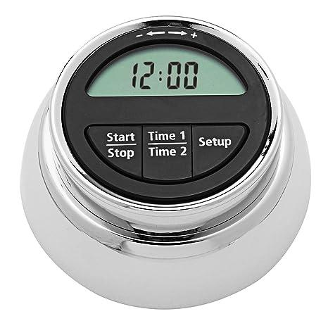 Temporizador de Cocina Digital Magnético de Acero Inoxidable VADIV Funciona como Reloj 24 horas Despertador o