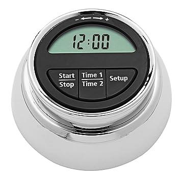 Temporizador de Cocina Digital Magnético de Acero Inoxidable VADIV Funciona como Reloj 24 horas Despertador o Temporizador Función de Giro de 360 Grados ...