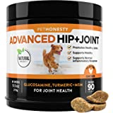 PetHonesty Advanced Hip & Joint - Dog Joint Supplement Support for Dogs with Glucosamine Chondroitin, MSM, Turmeric - Glucosa