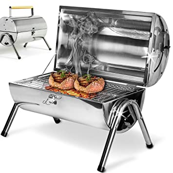 Holz Acero inoxidable Barbacoa picni plegable bbq parrilla ...