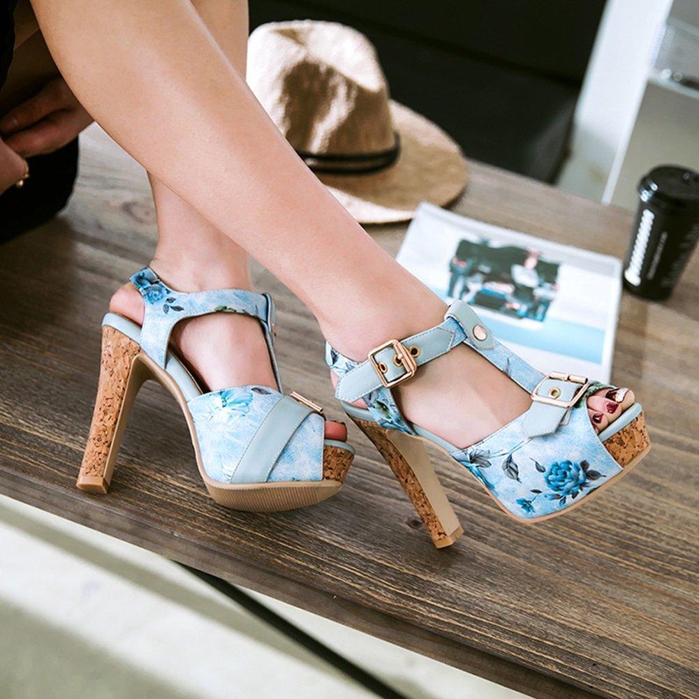 ed76f126f6d5 Scarpe da Donna Artificiali PU Primavera Estate Nuovi Sandali Piattaforma  Impermeabile con Tacco Alto Taglia Codice 34-46 Signore Sandali per Partito  ...