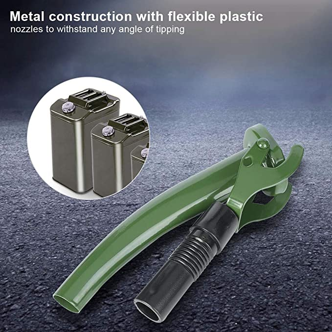 Enrilior Flexible Jerry Can Spout Metal Fuel Can Nozzle for All Non-CARB NATO Style Jerry Cans