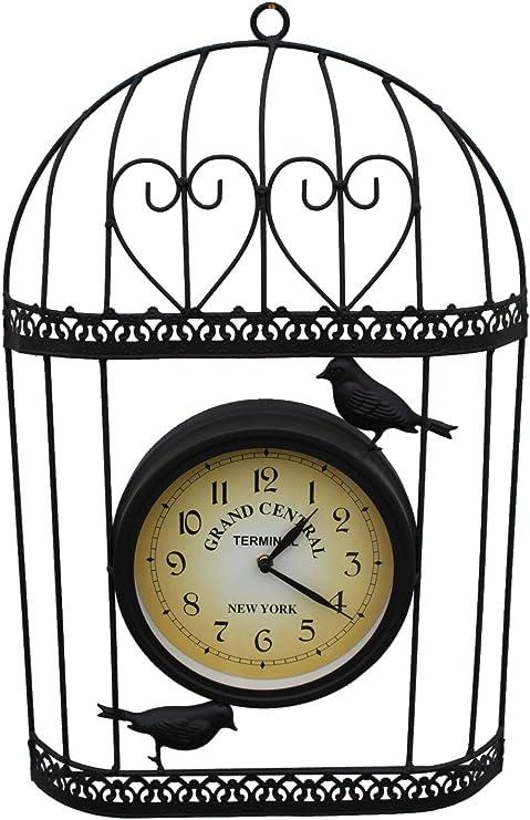 Jaula de jardín decorativo reloj con batería para uso interior o exterior.: Amazon.es: Jardín