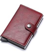 HASAGEI Tarjetero Hombre Tarjeteros para Tarjetas de Crédito Automática  RFID Cuero Sintético para Mujer u Hombre c6a18c84acc6