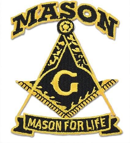 4 PCS MASONIC FLAG EMBROIDERED PATCH iron-on FREEMASON SQUARE COMPASS