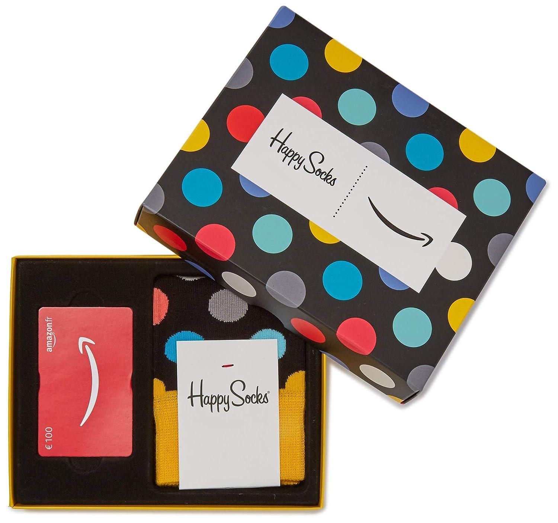 Carte cadeau Amazon.fr Dans un Coffret avec Chaussettes Happy Socks (Taille Unique) Chèques-cadeaux Amazon.fr Fixed
