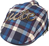 7629fd2bcc5 Koly Baby Infant Toddler Plaid Beret Cap Cabbie Casquette Flat Peaked Hat