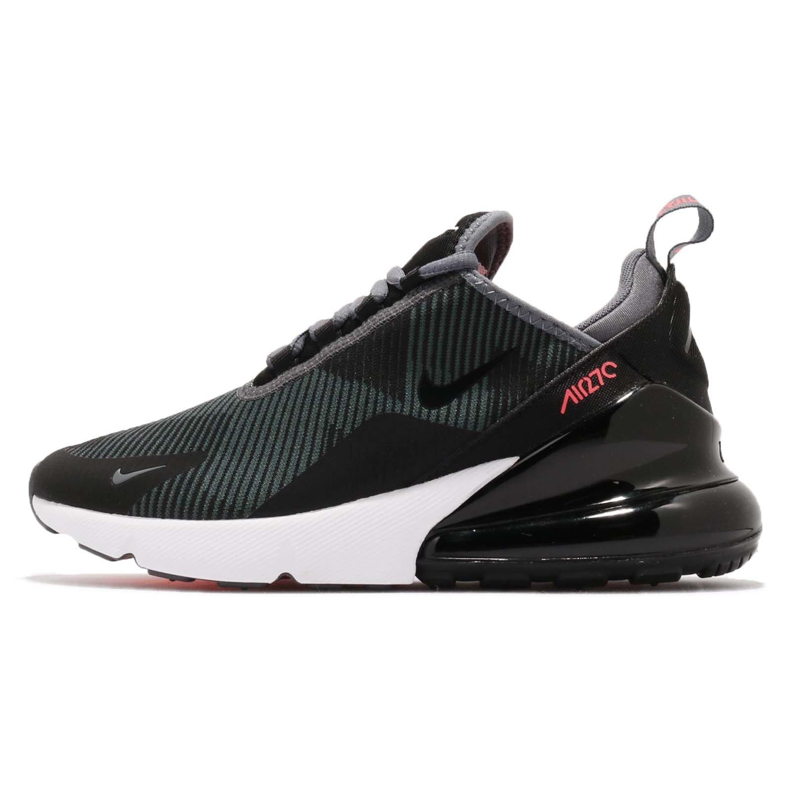 Nike Kid's Air Max 270 KJCRD GS, Dark Grey/Black-HOT Punch, Youth Size 4
