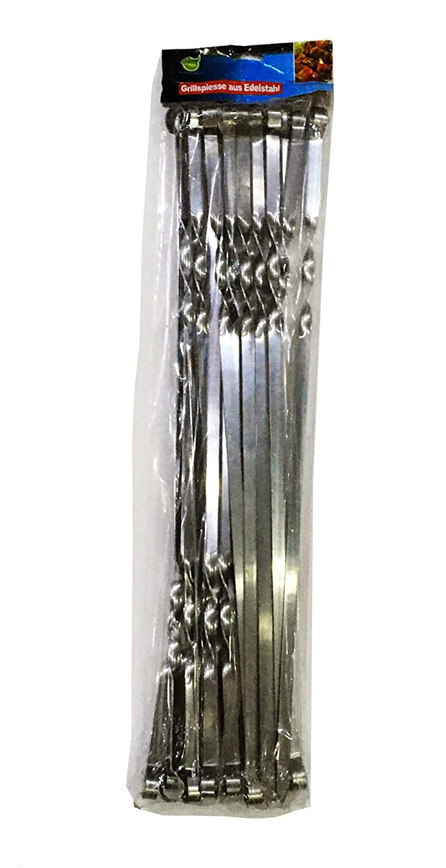 Compra GMMH Brochetas Pinchos 50 cm 20 Piezas Parrilla De Acero ...