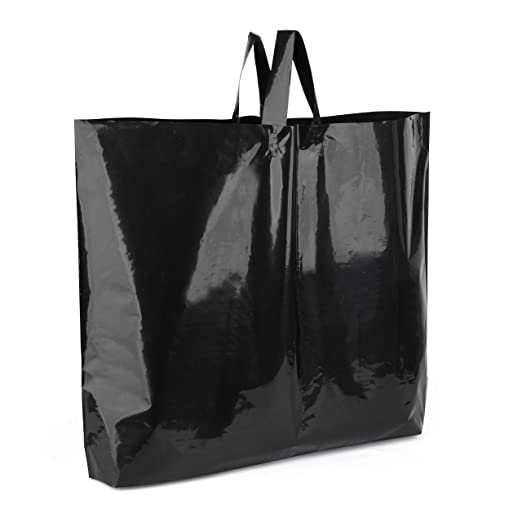 Large Black /& Gold Plastic Printed Carrier Bags!Retail//Fashion//Shoes//Boutique