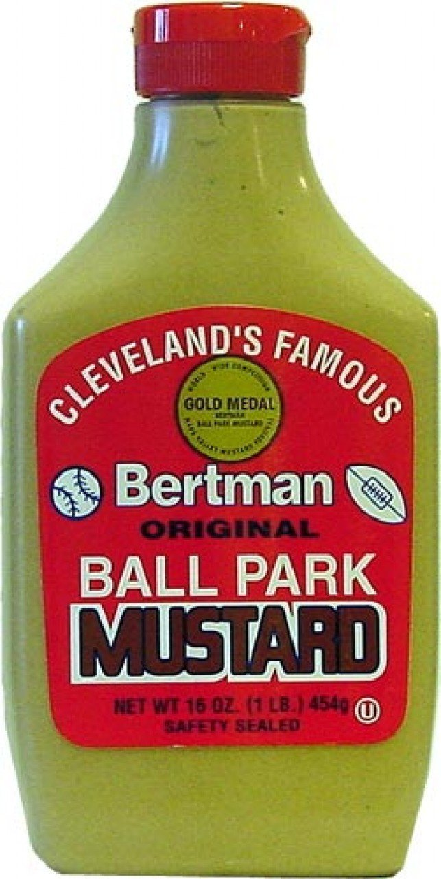 Bertman Original Ball Park Mustard, (Cleveland's Famous) Buy TWELVE Bottles and SAVE on Cost per Bottle, Each Bottle is 16 oz (Pack of 12)