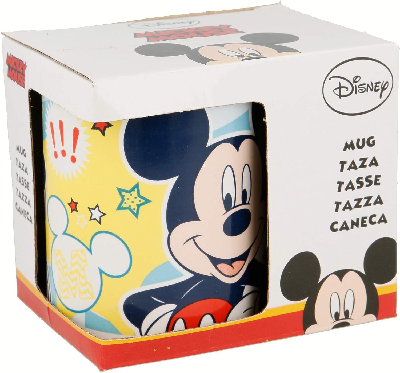 TAZA CERAMICA 325 ML CON CAJA   MICKEY MOUSE - DISNEY - MORE ANIMATED FUN: Amazon.es: Juguetes y juegos