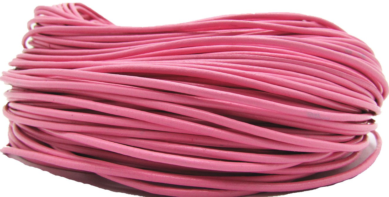 Genuine Round Leather Cords For Bracelet Neckacle Beading Jewelry Making 10 meter Coffee