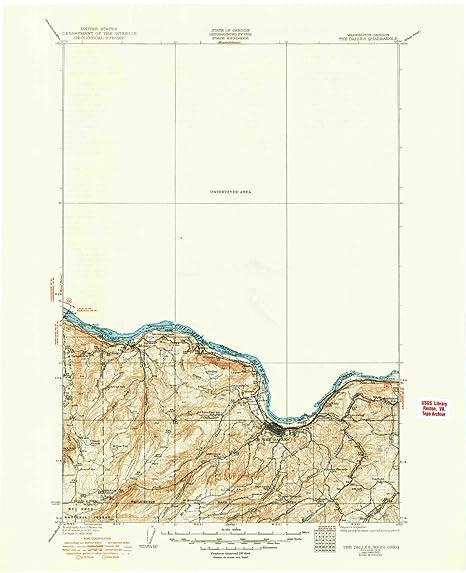 Amazon Com Yellowmaps The Dalles Or Topo Map 1 125000 Scale 30 X