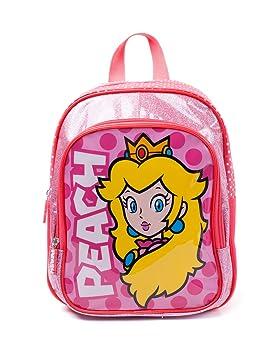 Nintendo Super Mario Bros. Nintendo Super Mario Bros. Princess Peach Kids Backpack, Pink/White (Bpy10127Ntn) Mochila Infantil 30 Centimeters Rosa (Pink): ...
