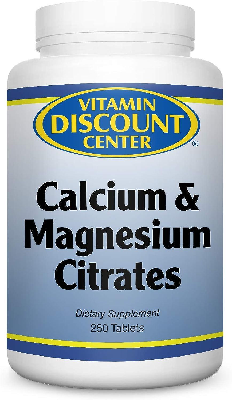 Vitamin Discount Center Calcium Magnesium Citrate, 250 Tablets