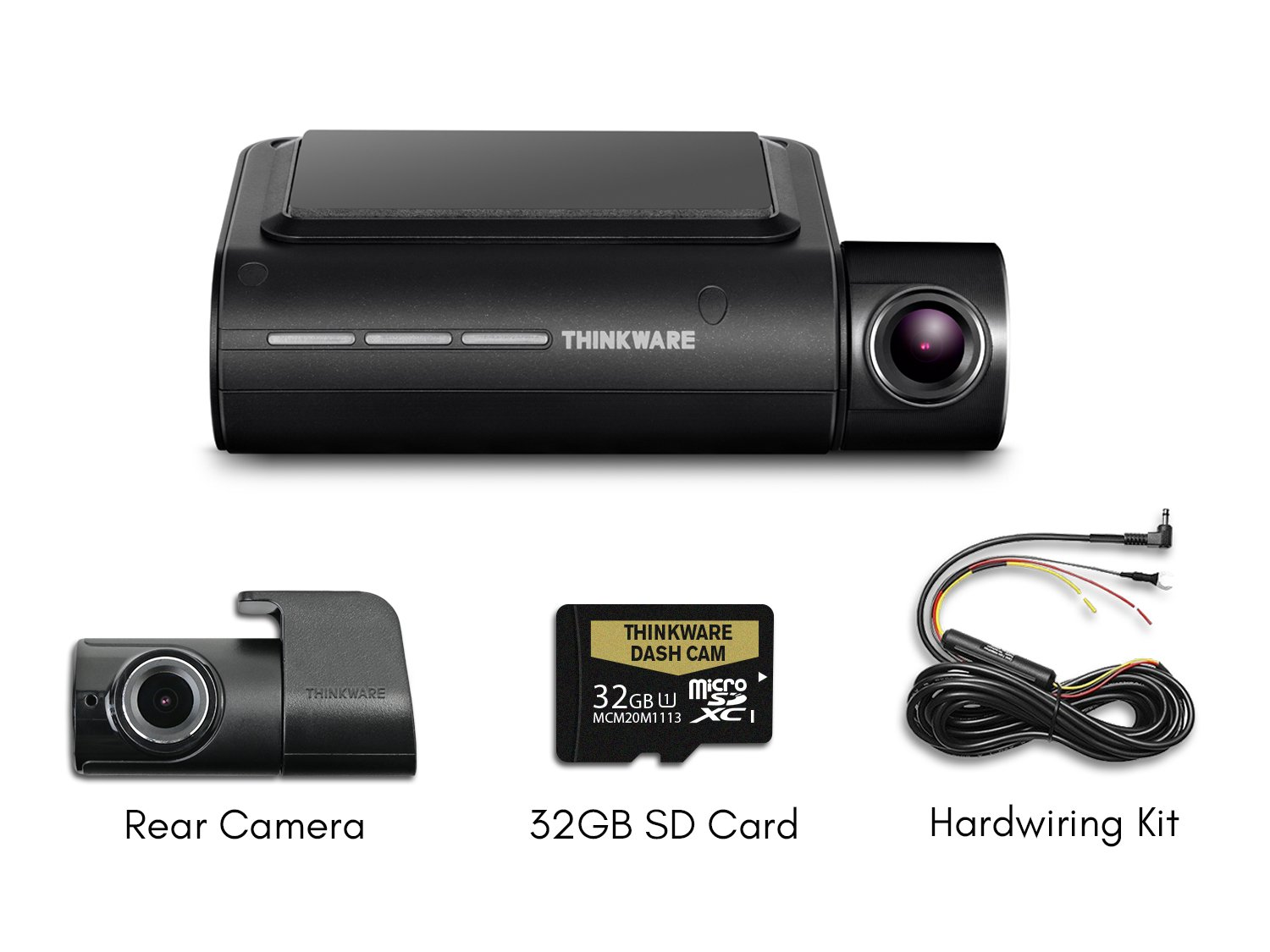 Thinkware F800 PRO 2-Channel Bundle 1080P FHD WiFi Rearview Camera 32GB SD Card and Hardwiring Kit Included