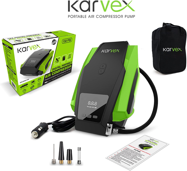Karvex Digital Portable Air Compressor Pump}
