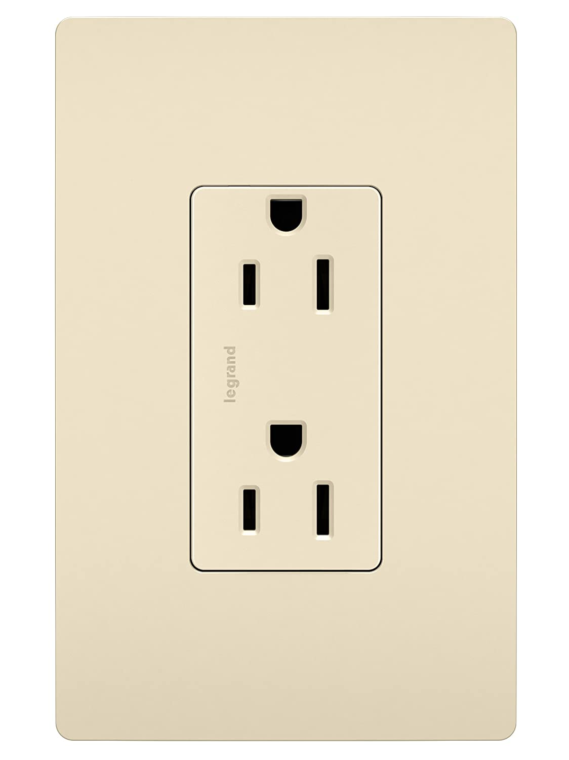 Light Almond Legrand 8-Pack Pass /& Seymour radiant 885LACP8 15 Amp Duplex Outlet