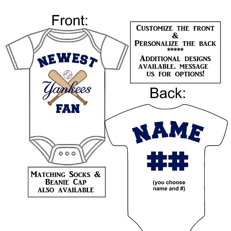 huge discount f3664 65b84 Amazon.com: Personalized Custom Made Newest Yankees Fan ...