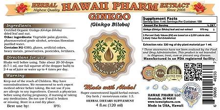 Ginkgo Liquid Extract, Organic Ginkgo Ginkgo Biloba Tincture 4 oz